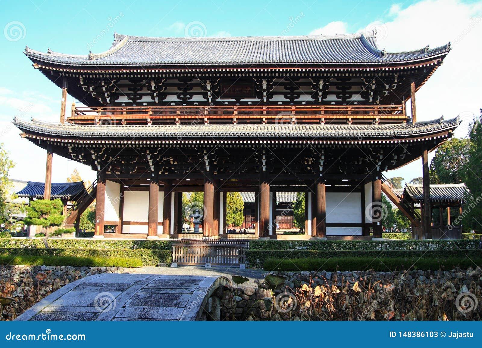 Puerta japonesa del templo de Tofuku-ji que sorprende