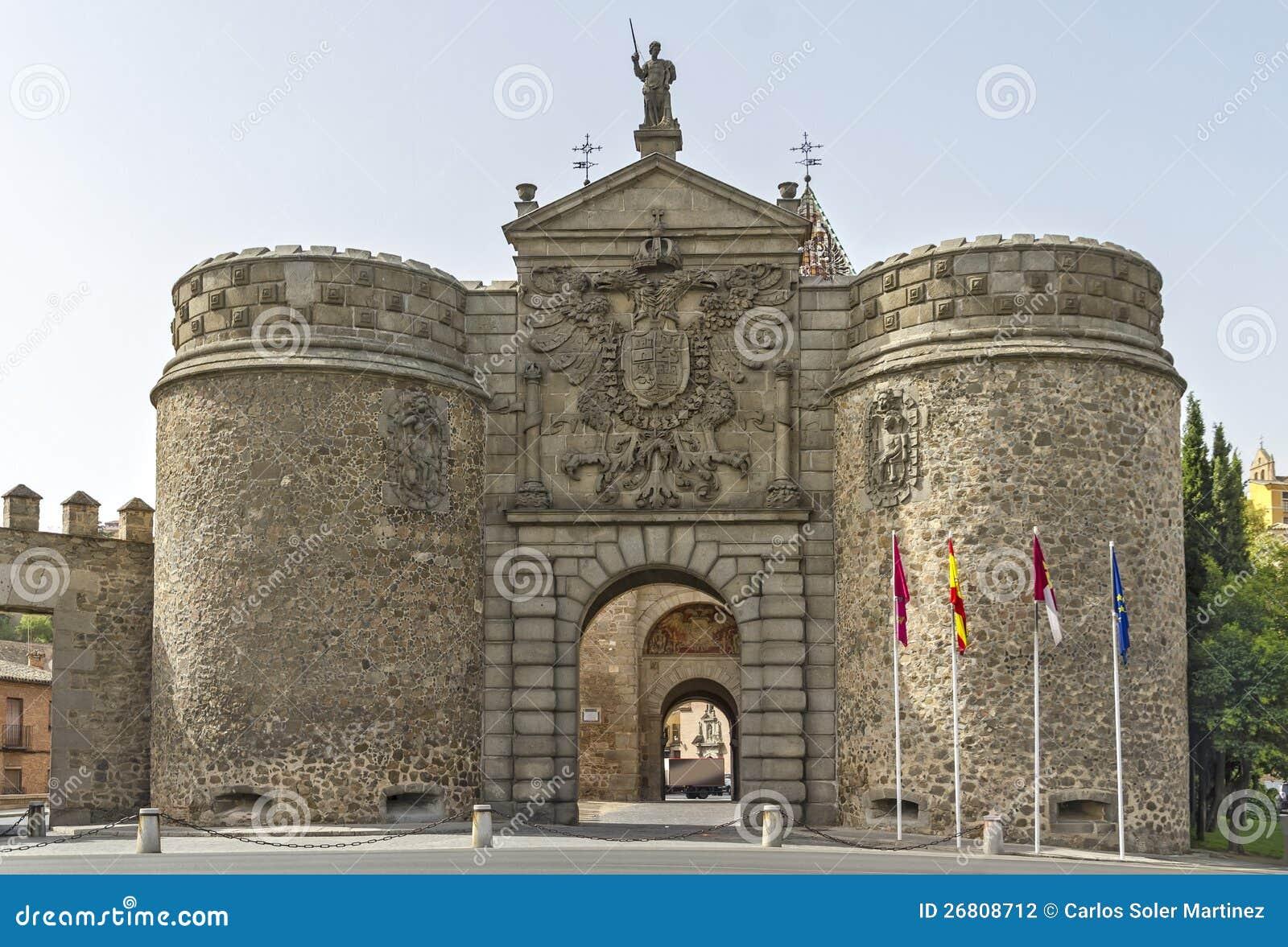 Puerta Nueva De Bisagra, In Toledo, Spain Stock ...