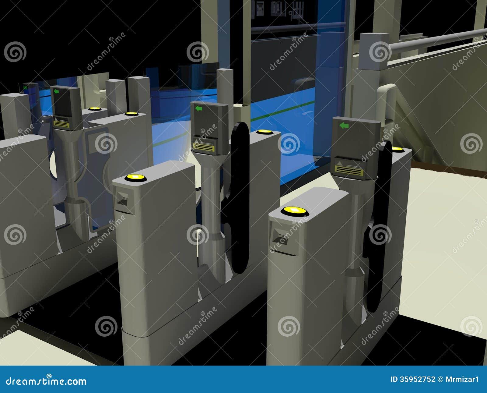 Puertas automáticas del boleto