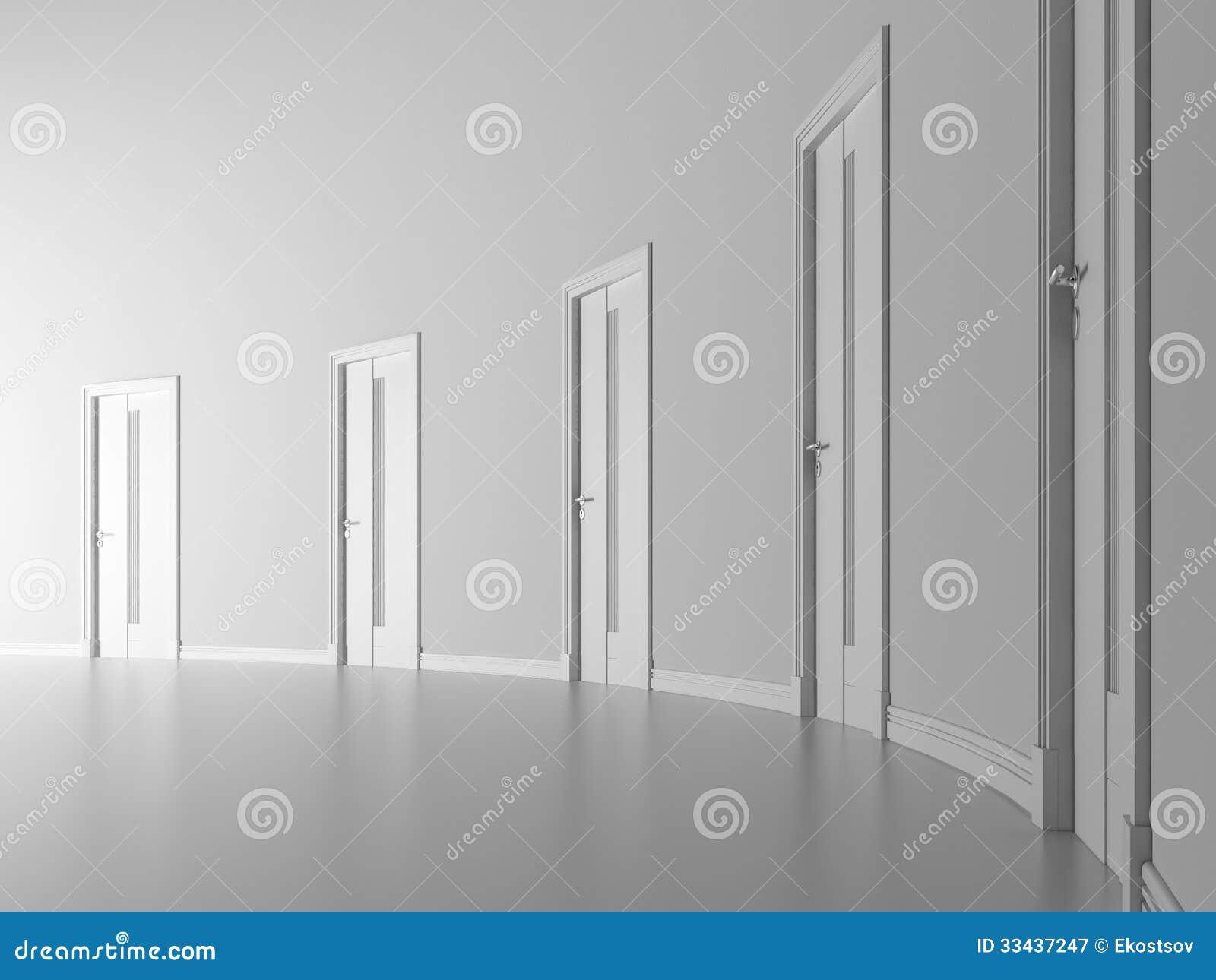 Puertas cerradas en el sitio blanco fotograf a de archivo - Lacar puertas en blanco precio ...