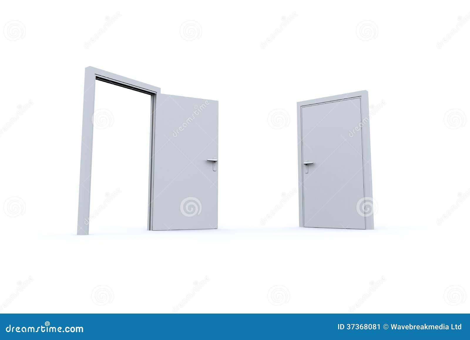 Puertas Cerradas Y Abiertas Imagen De Archivo