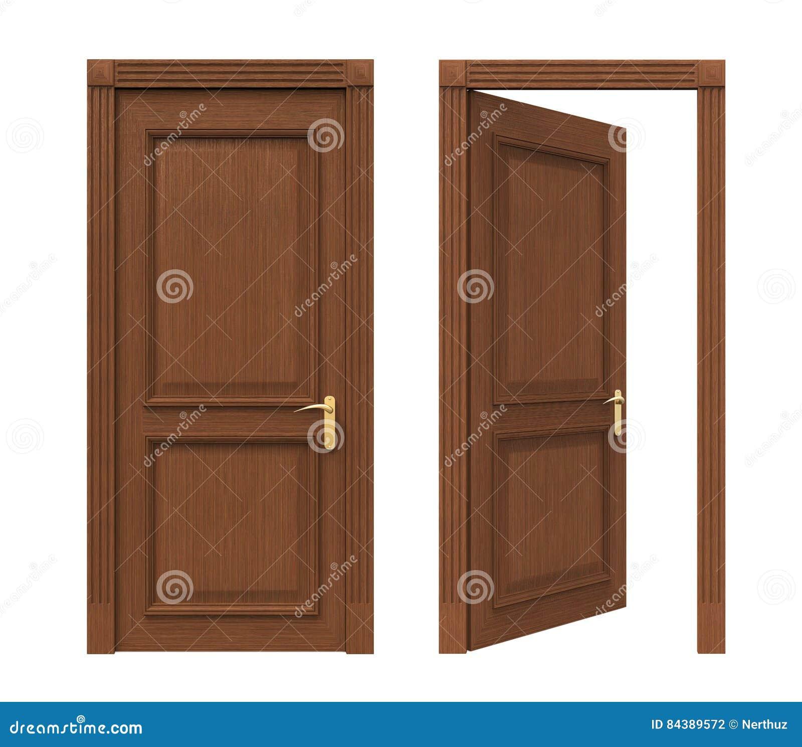 Puertas Cerradas Y Abiertas Stock de ilustración - Ilustración de ...