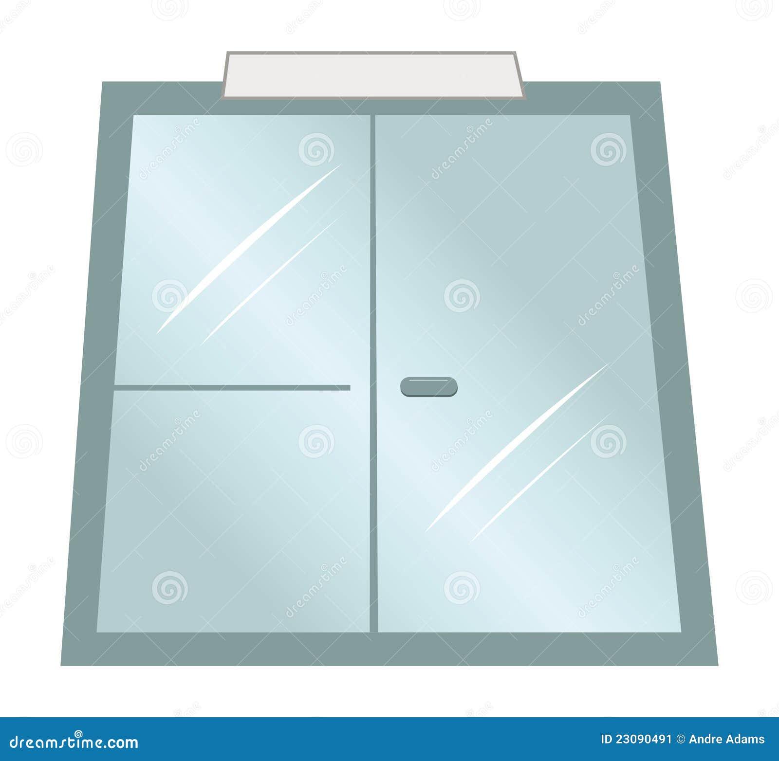 Puertas de cristal ilustraci n del vector imagen de for Imagenes de puertas de cristal