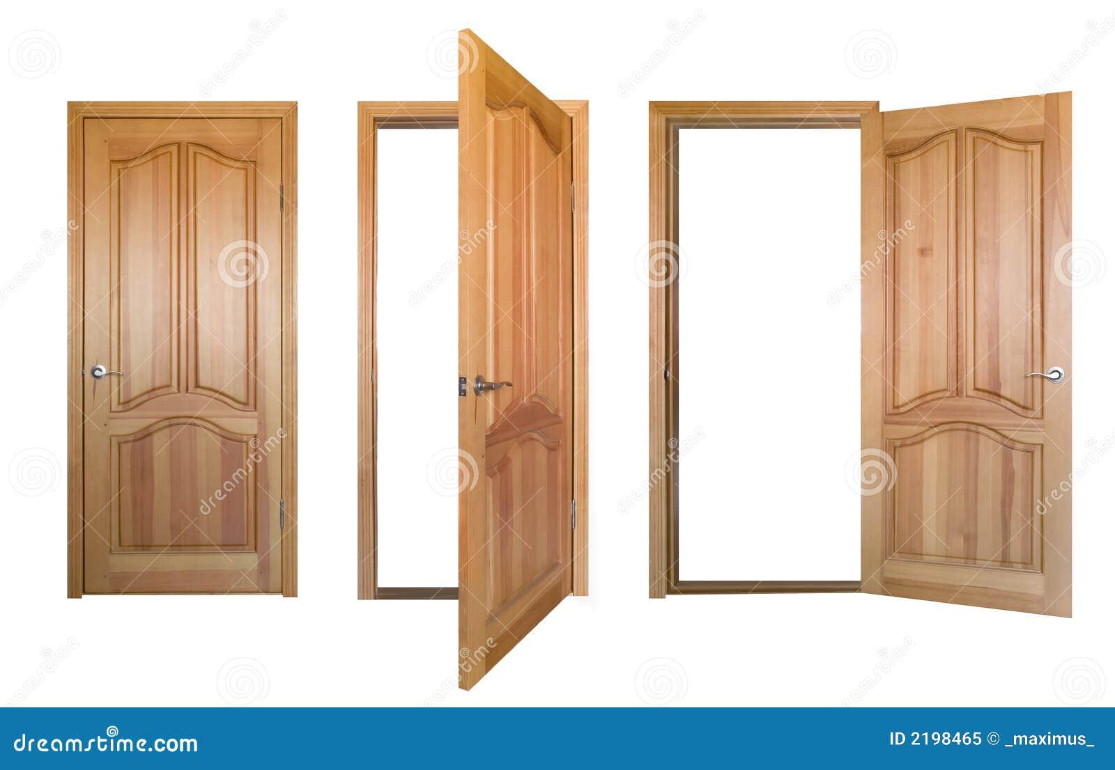 Puertas de madera aisladas foto de archivo libre de for Puertas para dormitorios madera