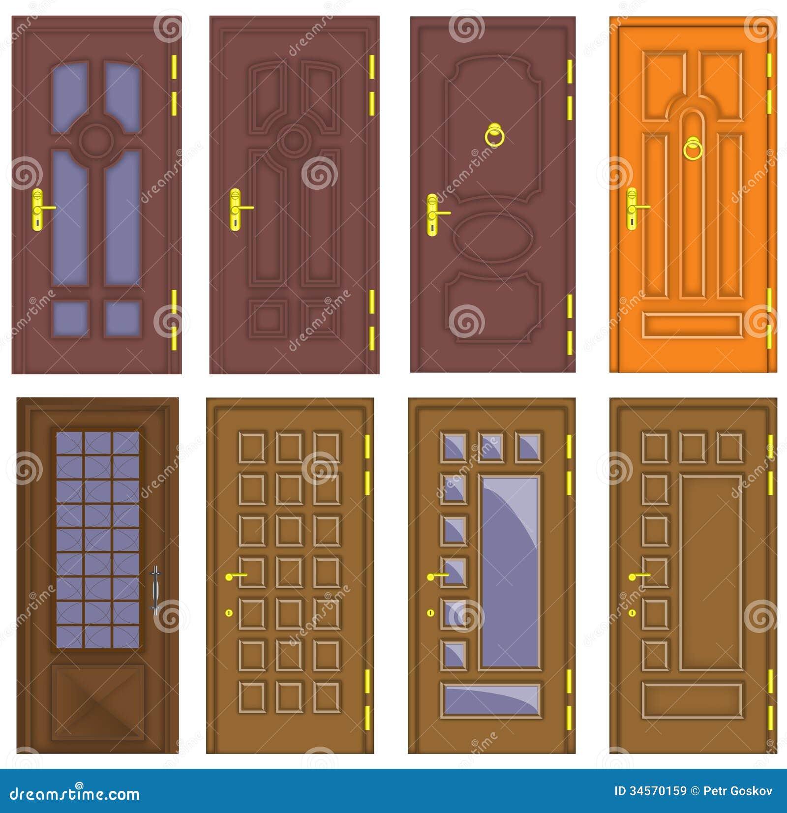 Puertas de madera interiores y delanteras cl sicas for Disenos de puertas para interiores