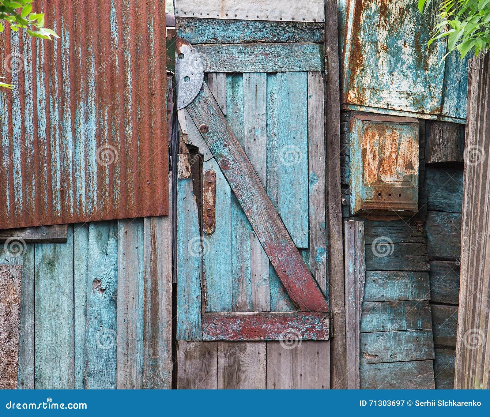 Puertas de madera viejas textura o fondo imagen de for Puertas viejas