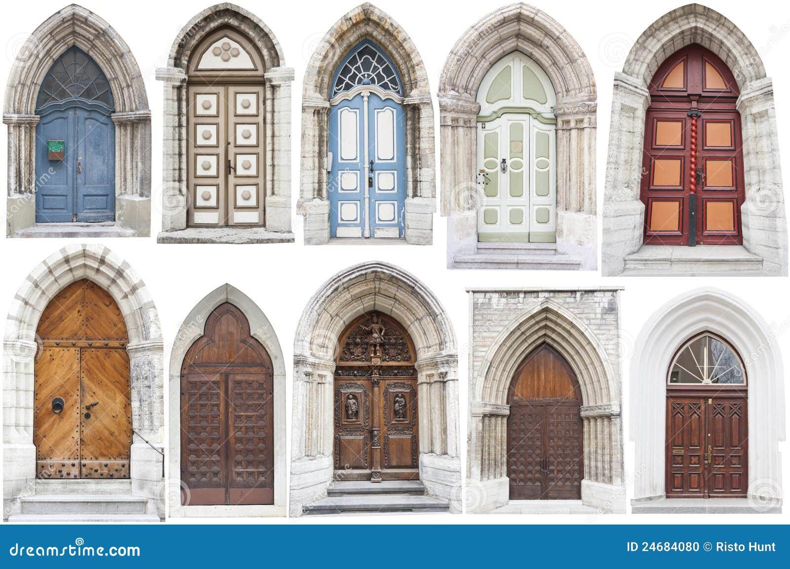 Puertas del estilo del arco con los bordes de la piedra - Arcos decorativos para puertas ...