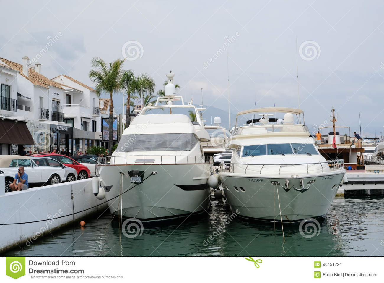 PUERTO BANUS, ANDALUCIA/SPAIN - JULY 6 : View of the Harbour in