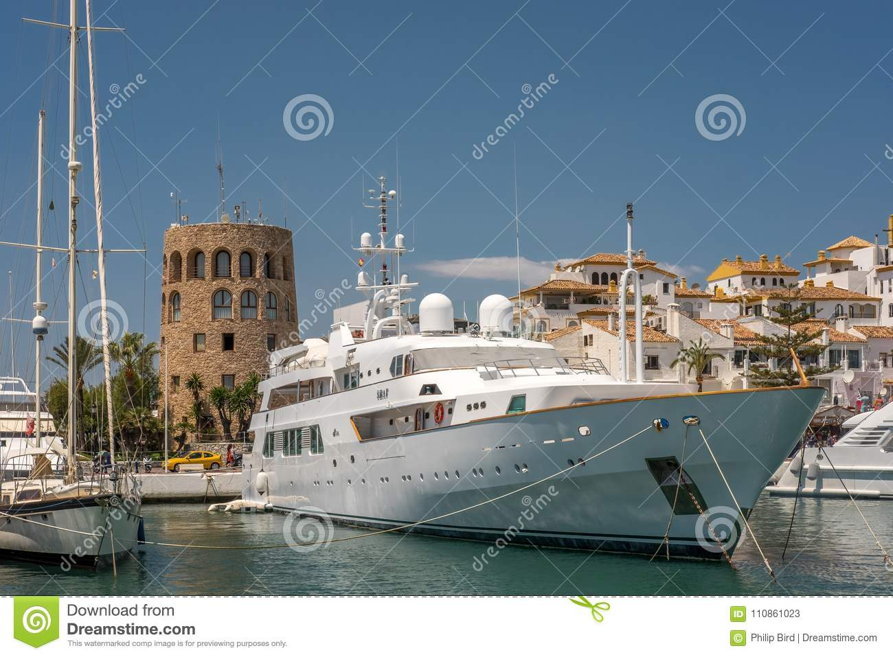 PUERTO BANUS, ANDALUCIA/SPAIN - MAY 26 : View of a Luxury Yacht