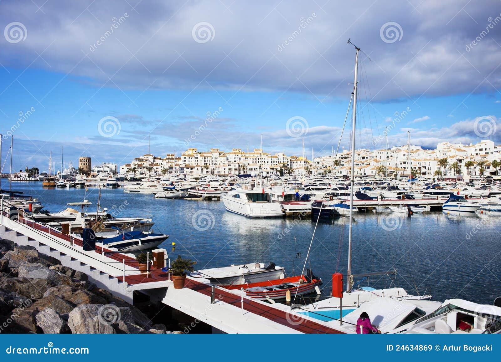 Puerto Banus On Costa Del Sol Stock Image Image Of