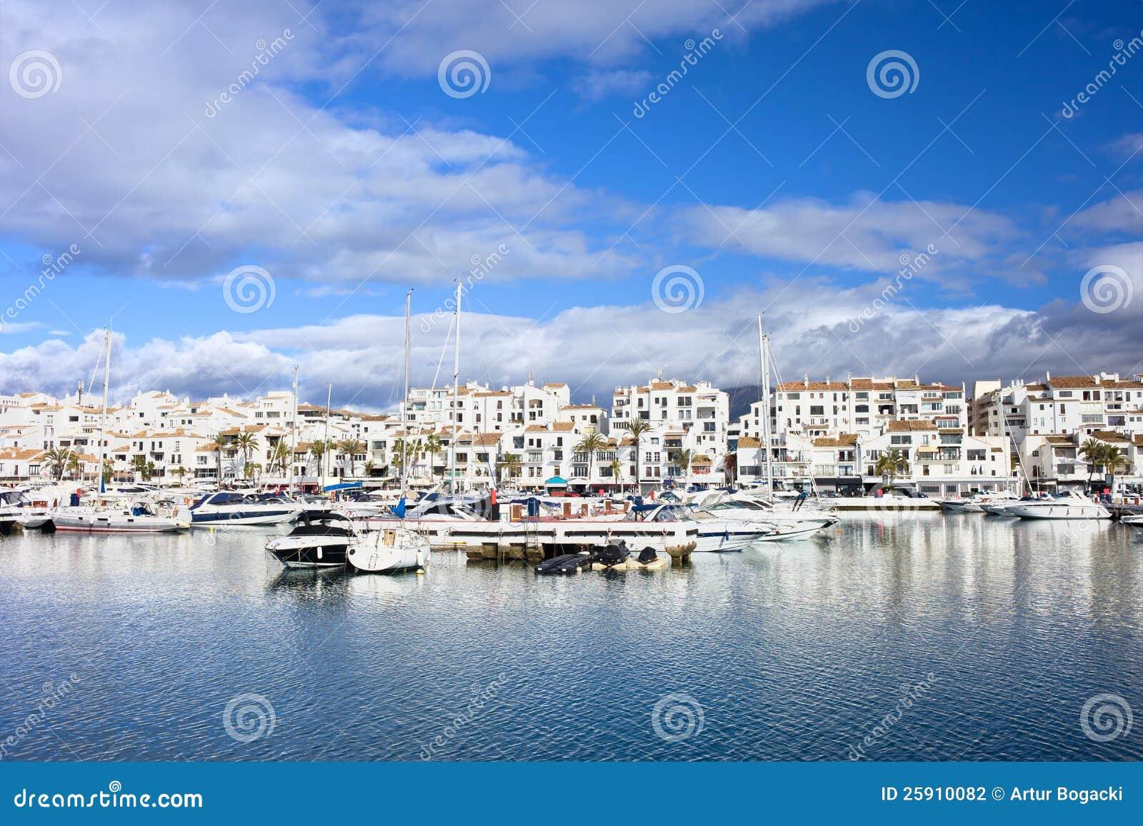 Puerto Banus Marina On Costa Del Sol Stock Photography