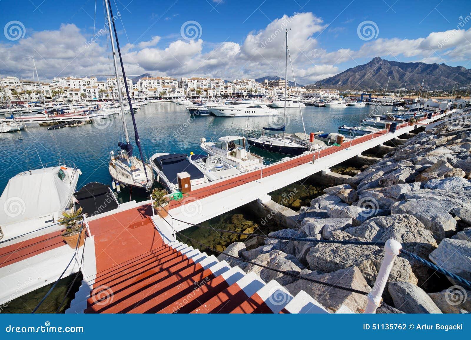 Puerto Banus Marina On Costa Del Sol In Spain Stock Photo