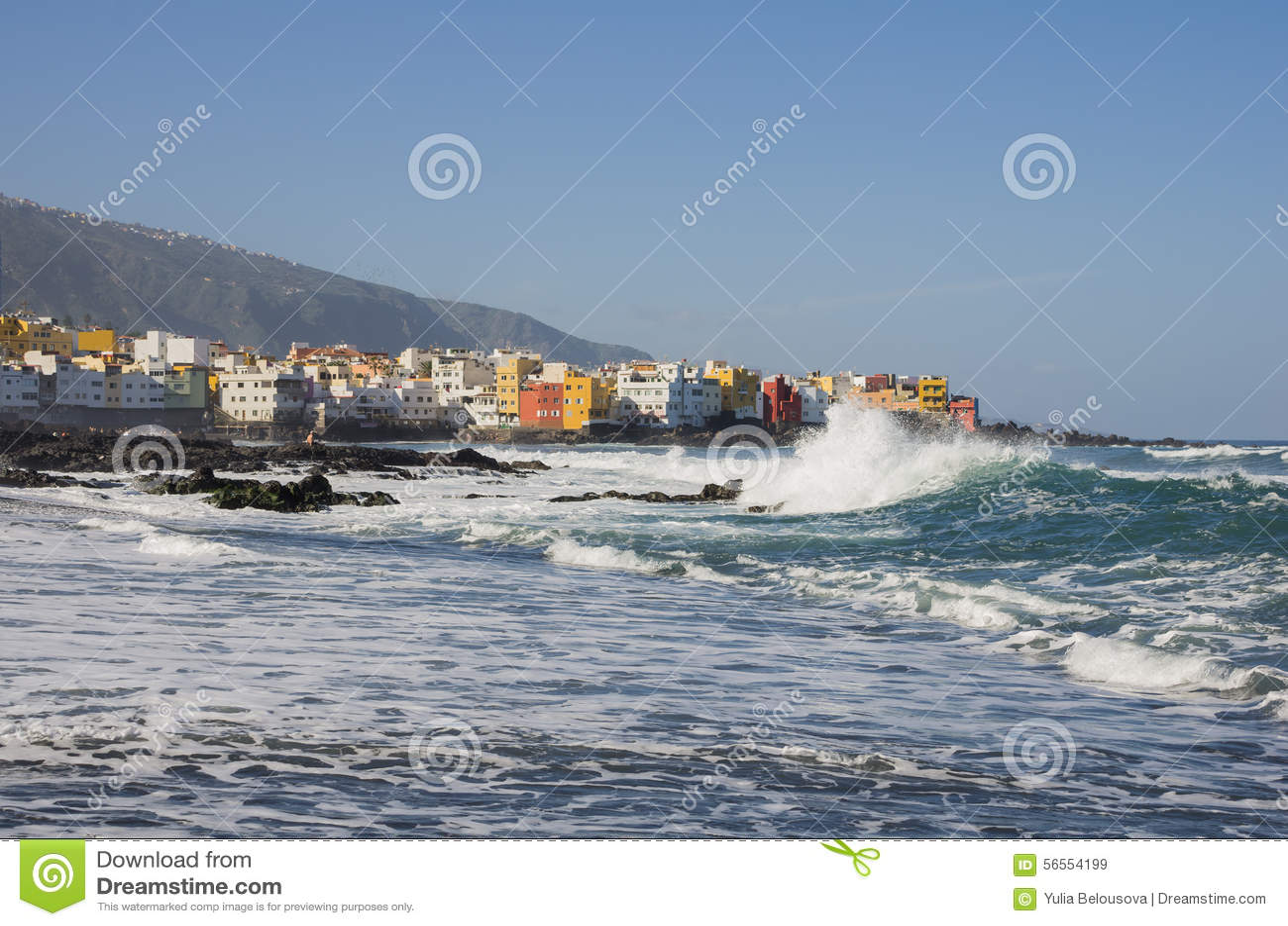 Download Puerto de Λα Cruz στοκ εικόνα. εικόνα από φοίνικας, καναρίνι - 56554199