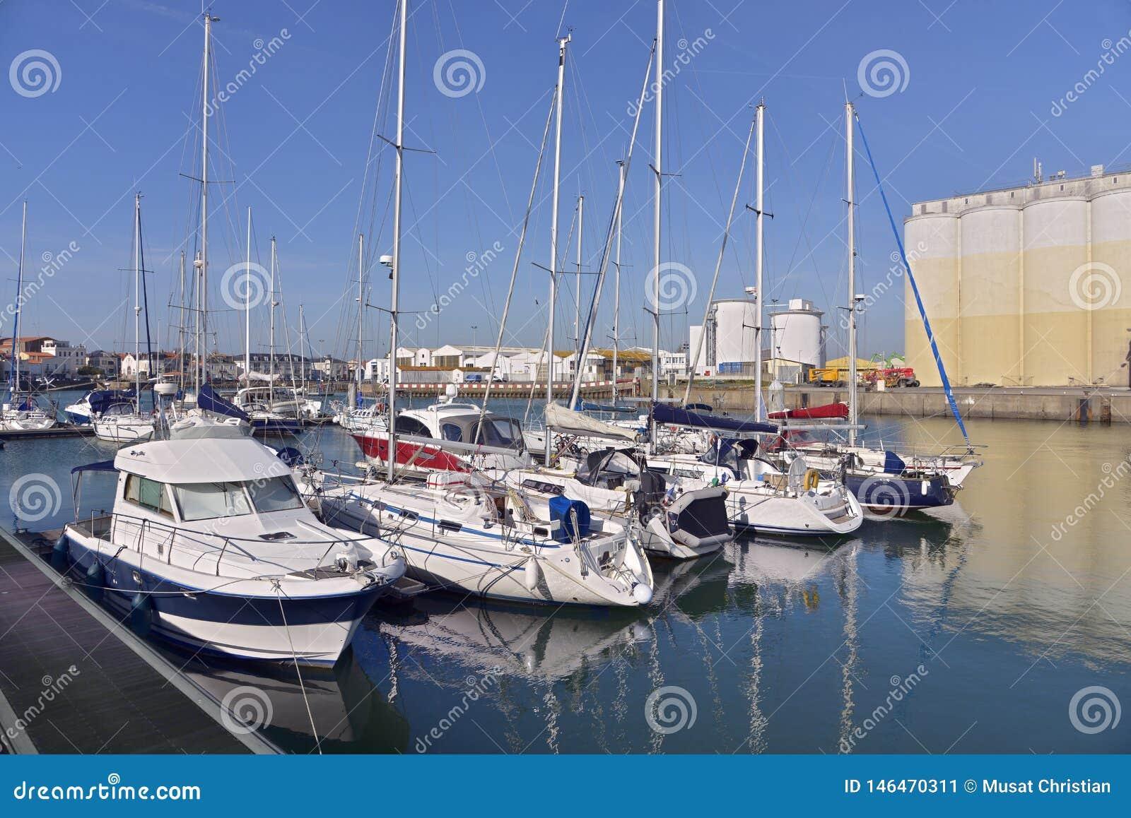 Puerto de los Sables d ?Olonne de Les en Francia