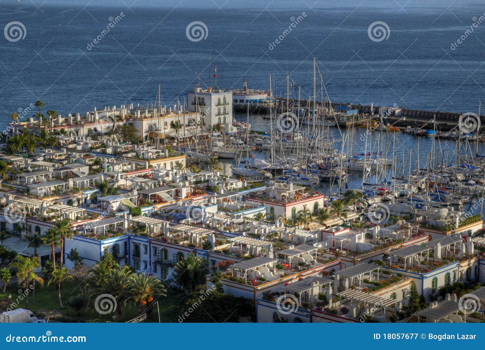 Puerto de mogan aerial gran canaria spain stock image image of aerial gran 18057677 - Puerto mogan gran canaria ...
