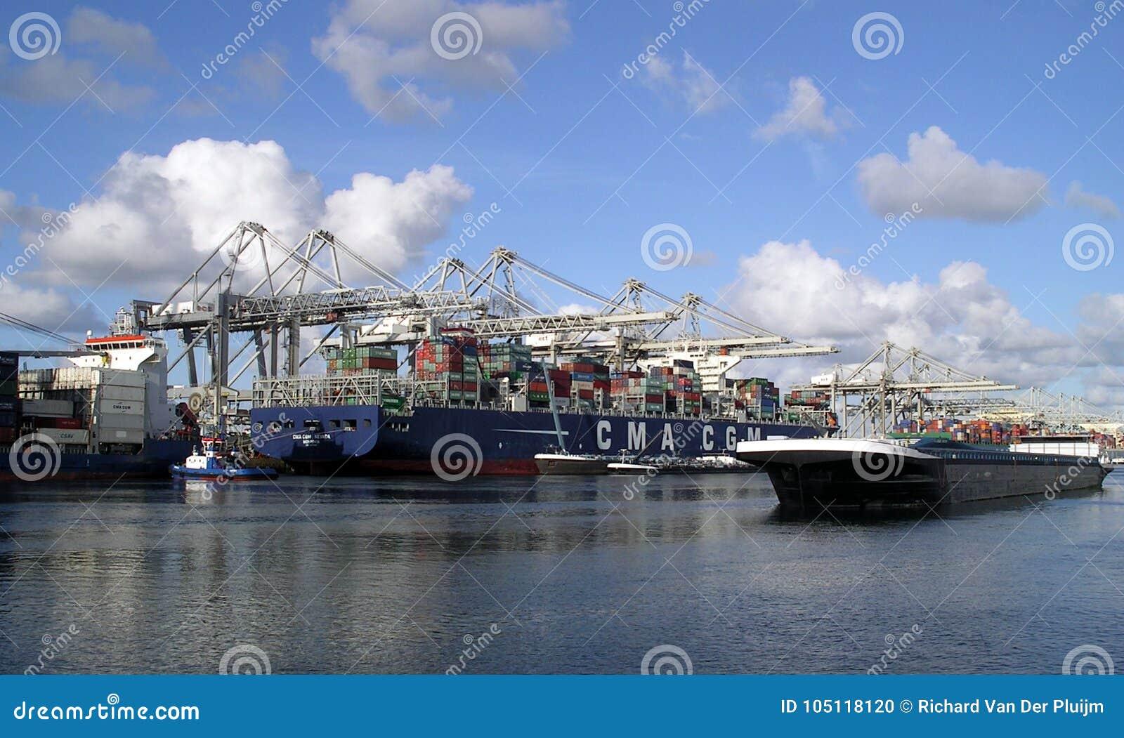Puerto de Rotterdam - los Países Bajos