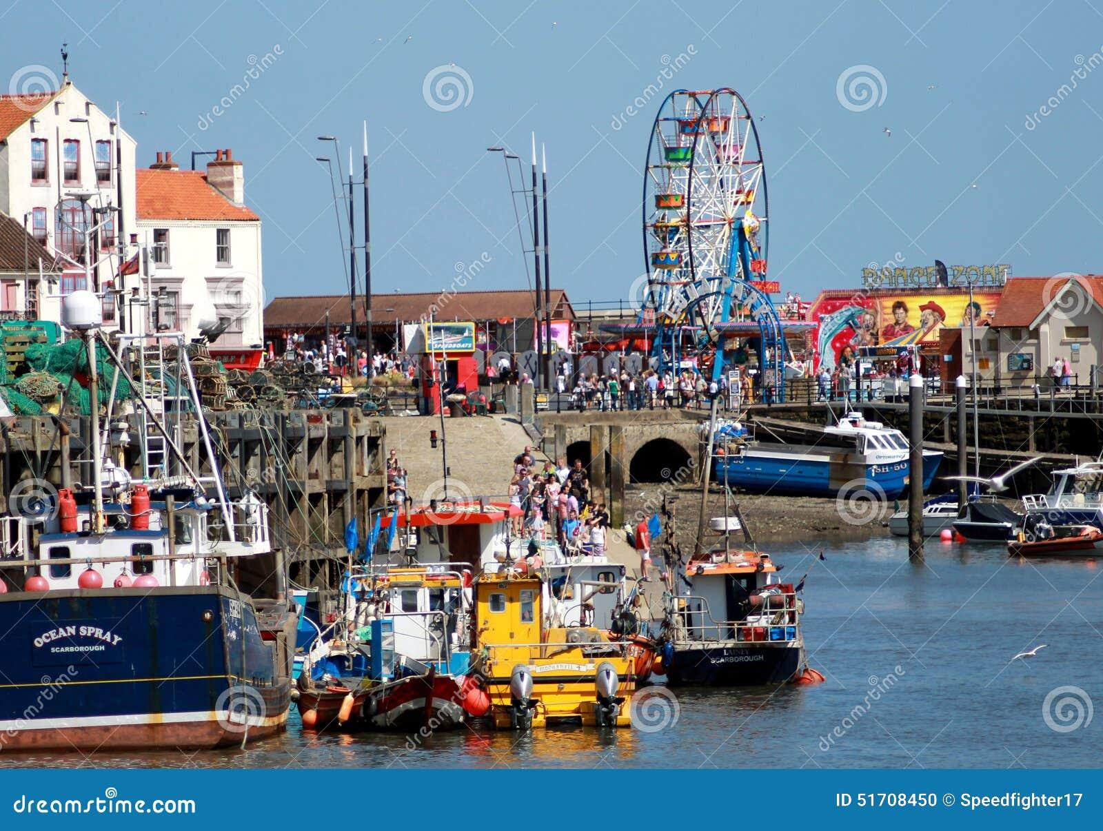 Puerto de Scarborough en Inglaterra