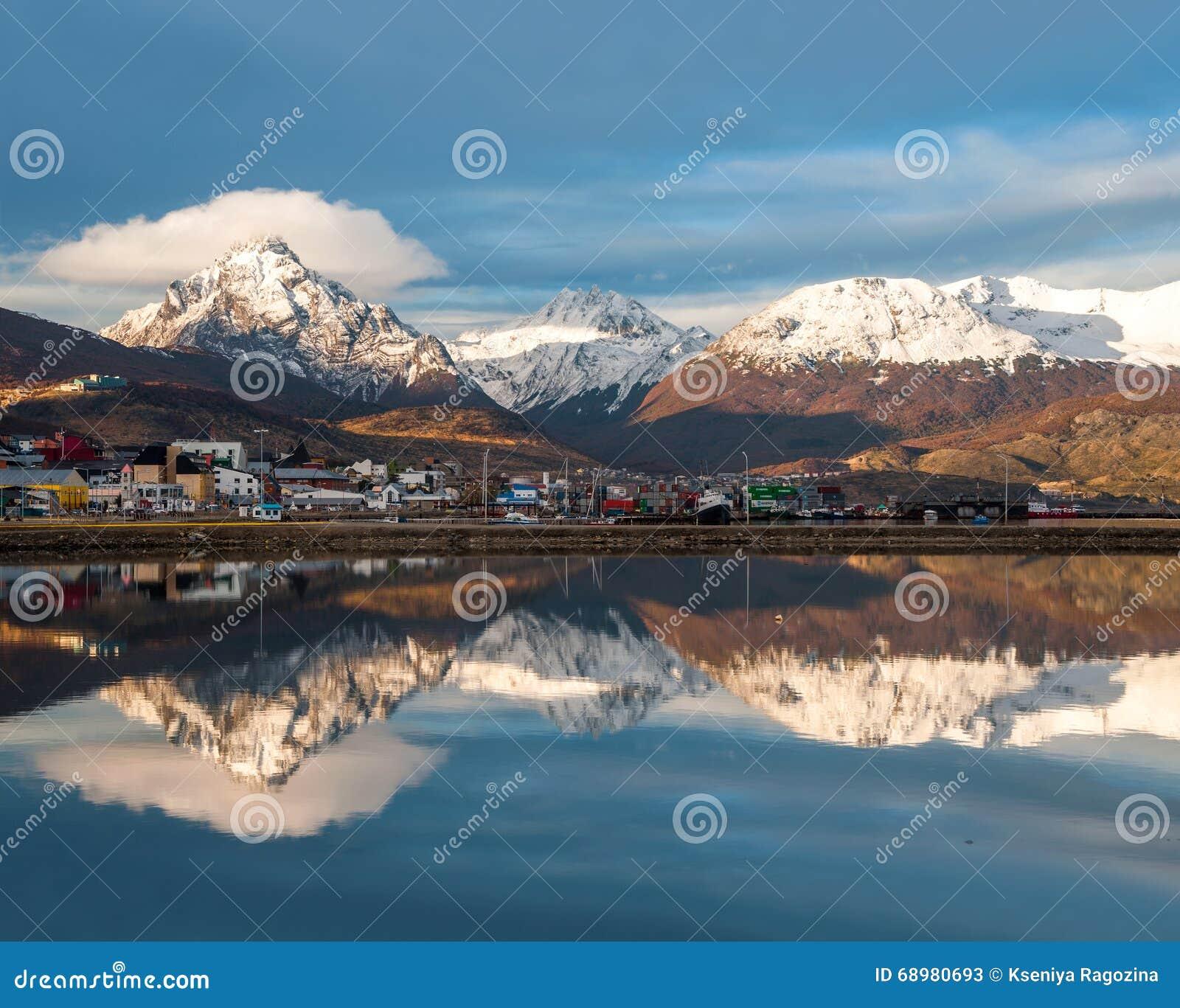 Puerto de Ushuaia, Tierra del Fuego, Patagonia, la Argentina