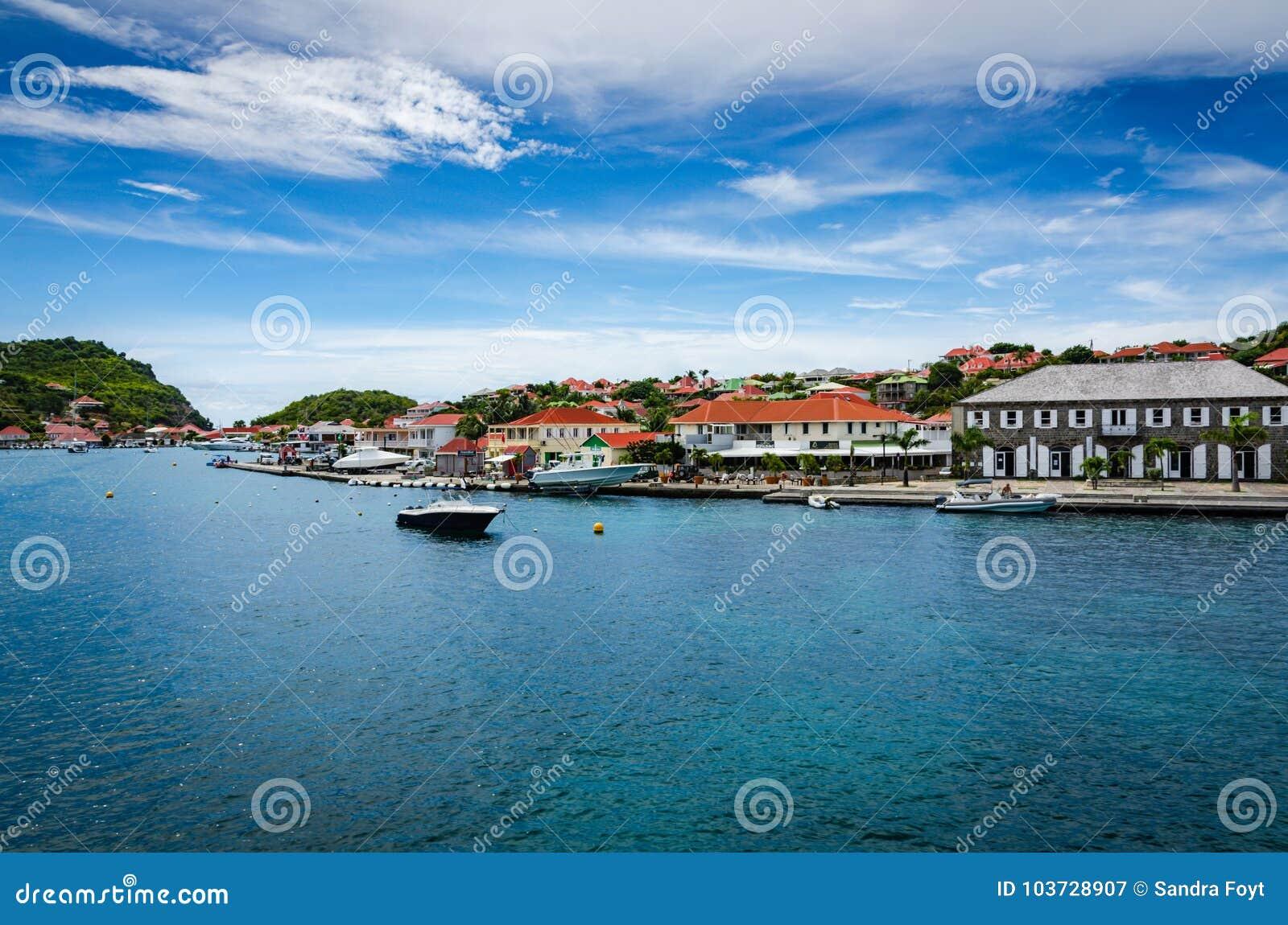 Puerto en Gustavia, santo Barthélemy