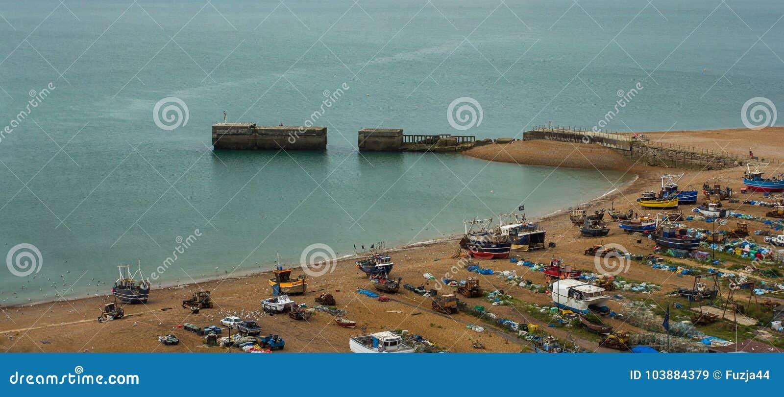 Puerto en Hastings, Reino Unido