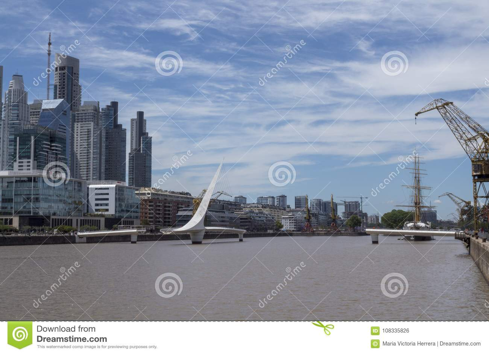 Puerto Madero Buenos Aires Puente de la mujer