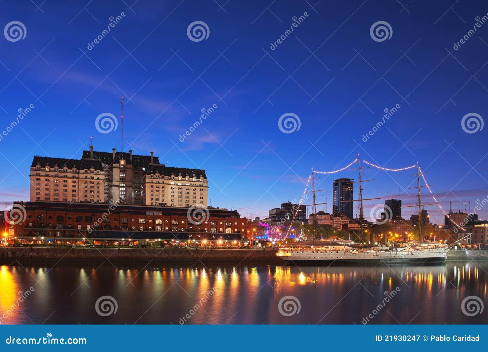 Puerto Madero at Night, Buenos Aires, Argentina.
