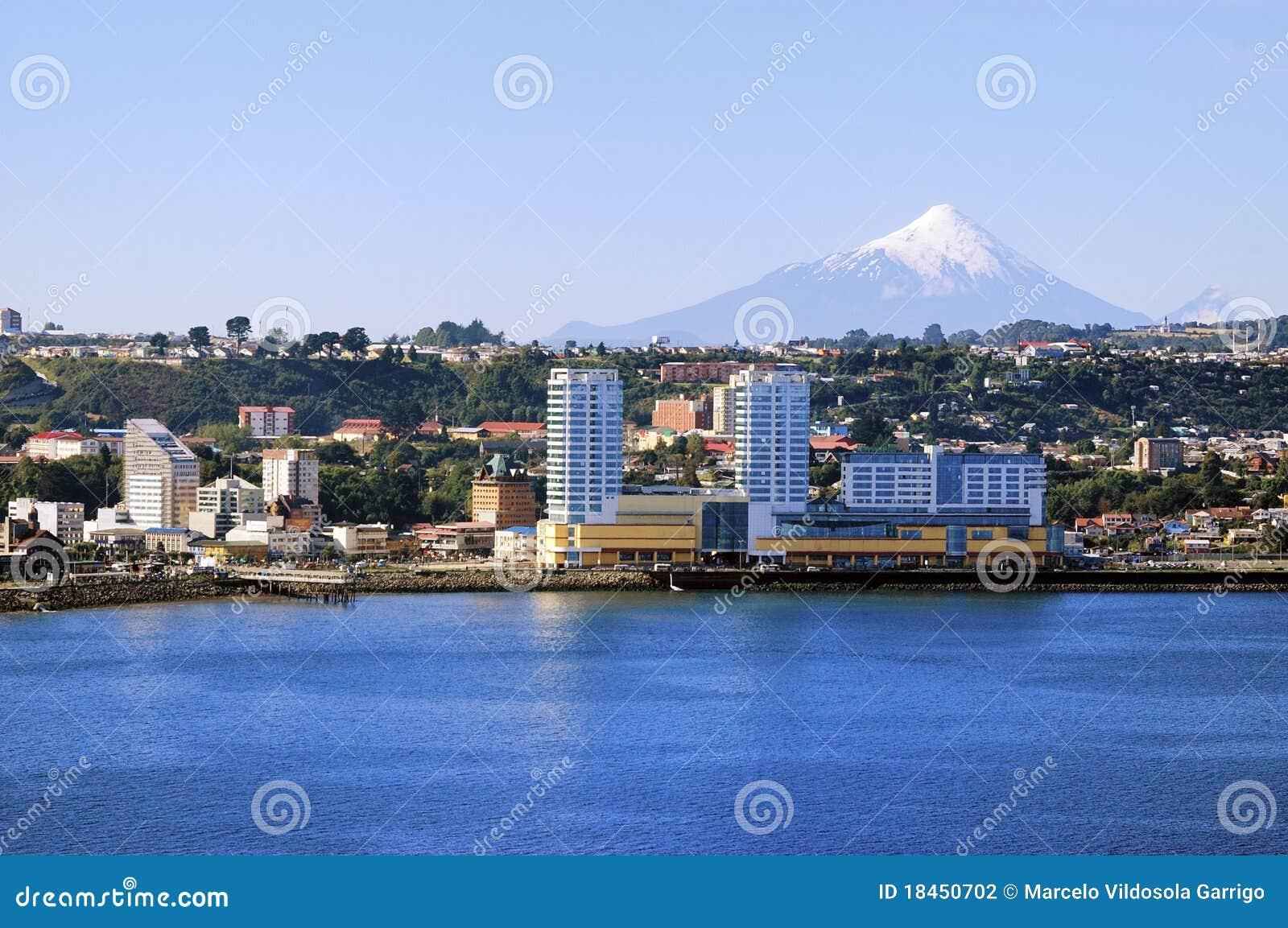 Download Puerto Montt city stock photo. Image of city, scene, buildings - 18450702