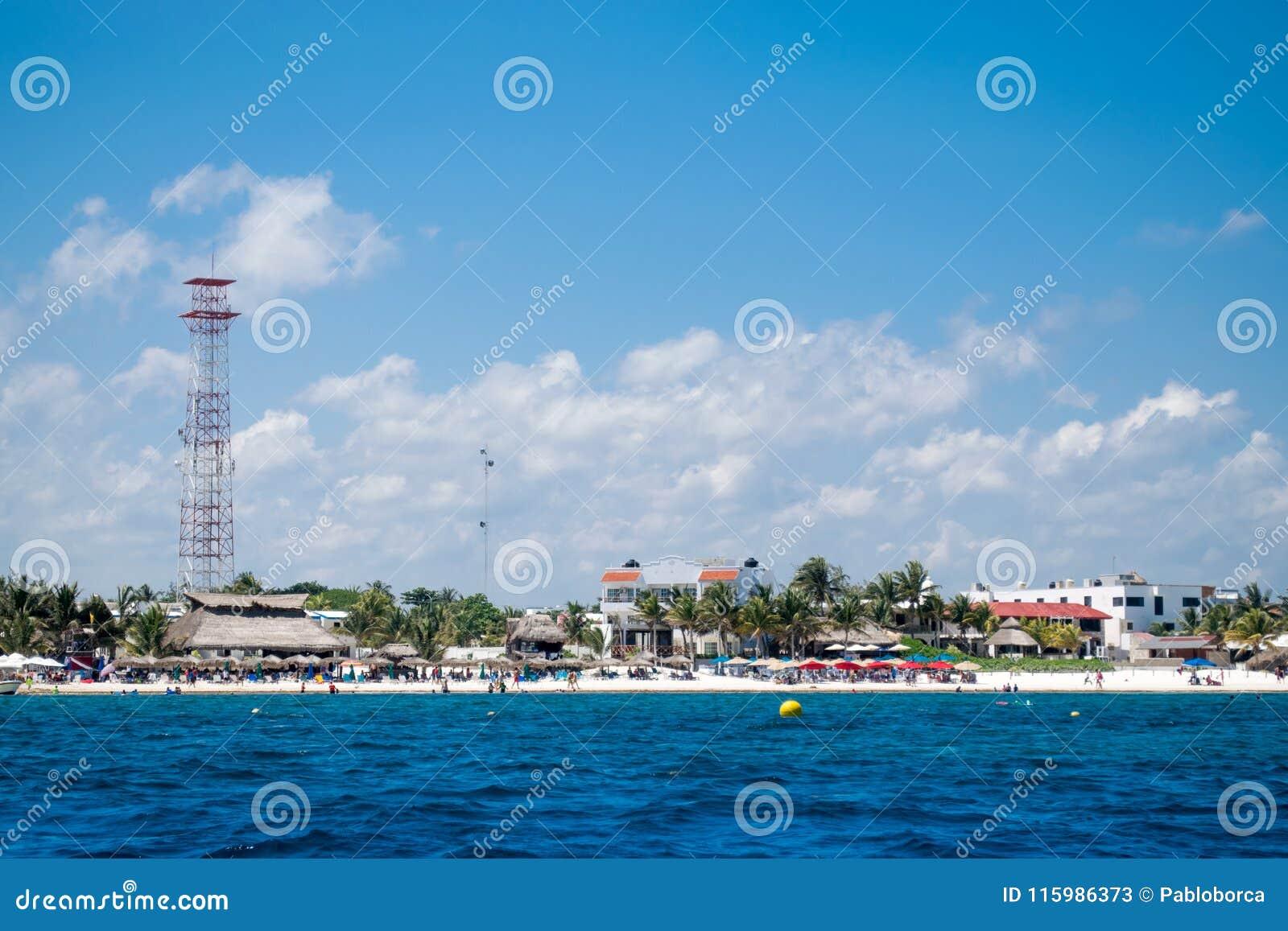 Puerto Morelos kust i Riviera Maya