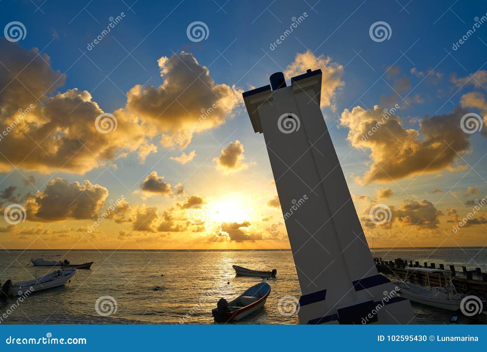 Puerto Morelos sunset in Riviera Maya