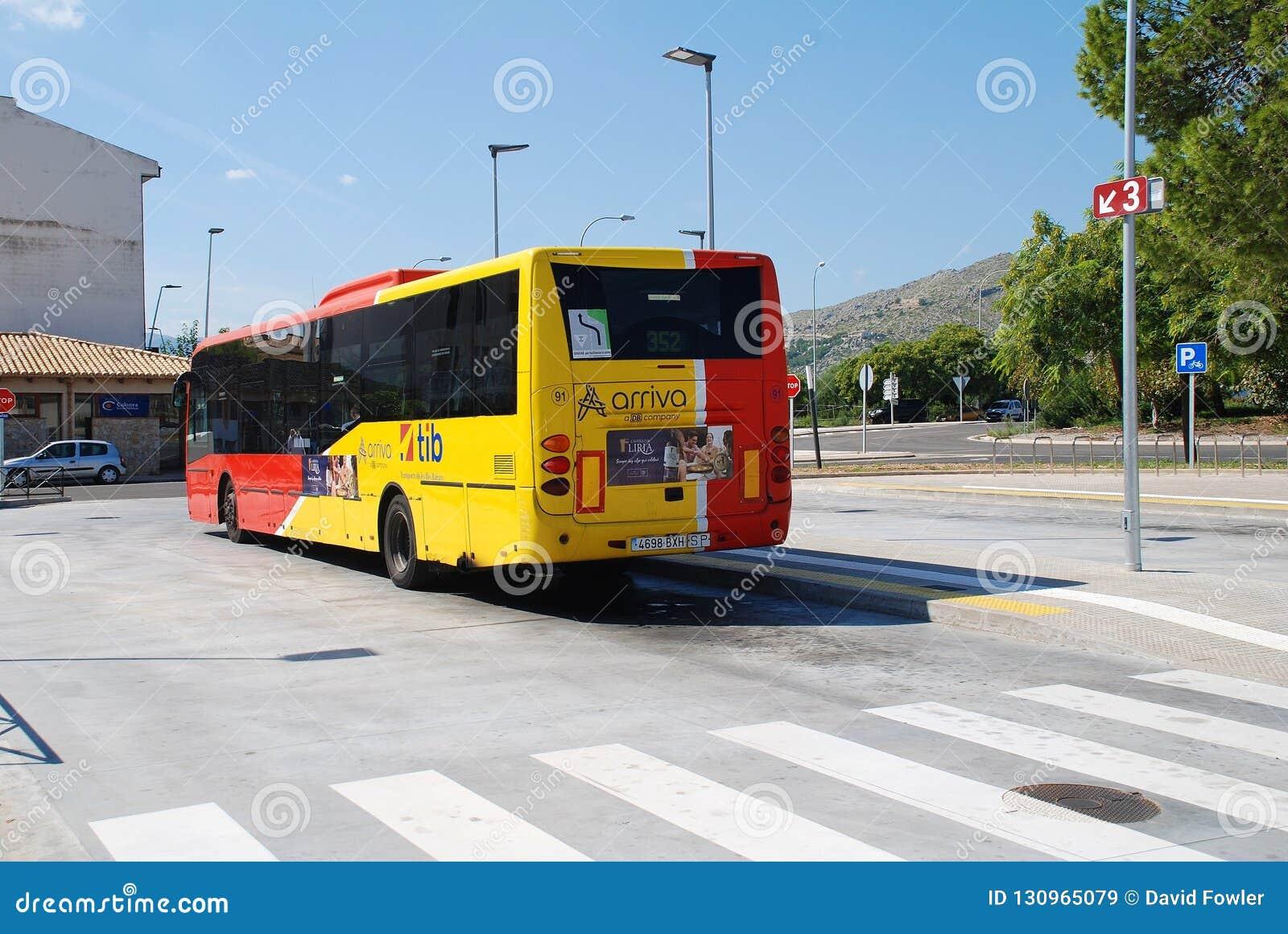 Puerto Pollensa przystanek autobusowy, Majorca