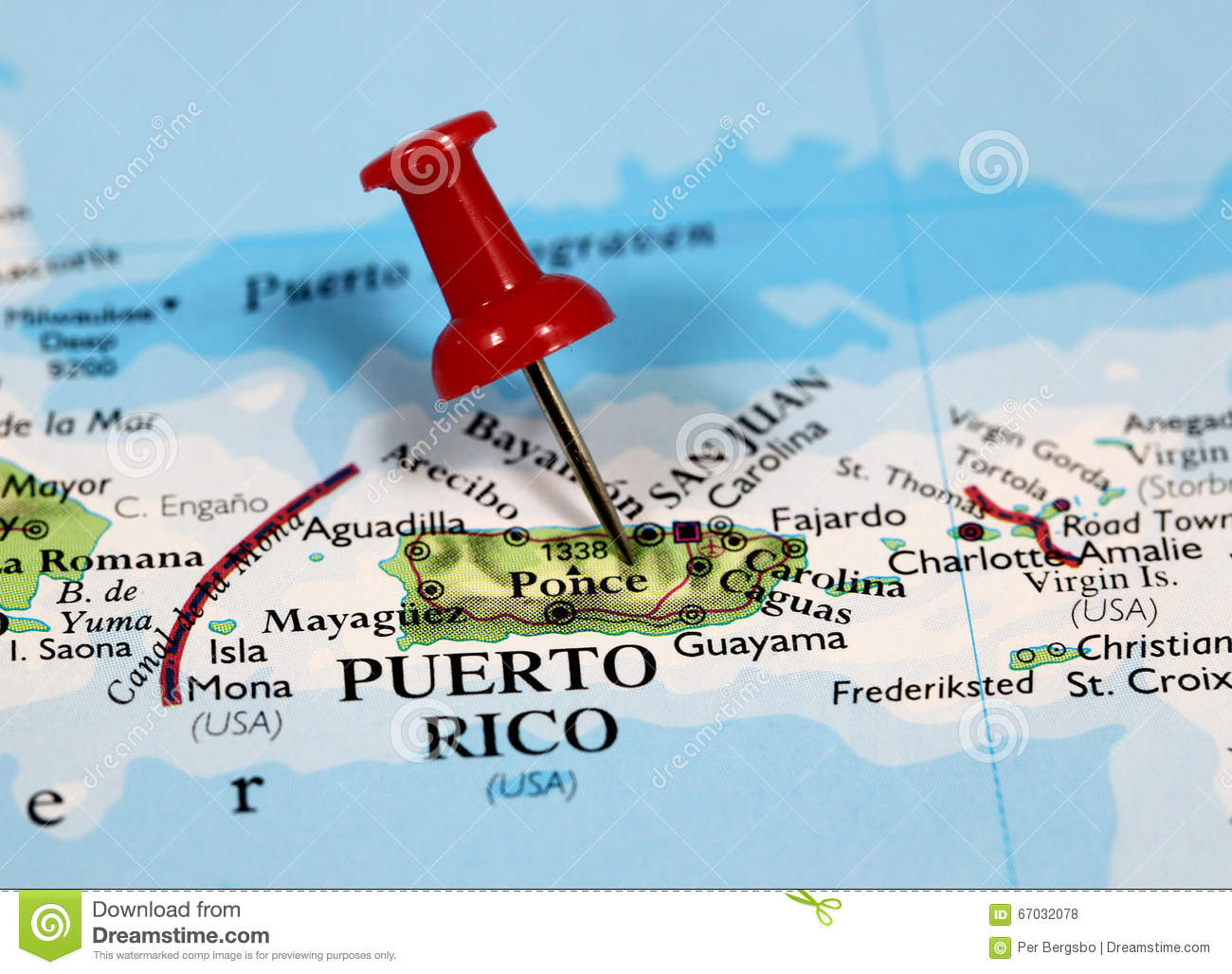 Puerto Rico Map Stock Images - 93 Photos