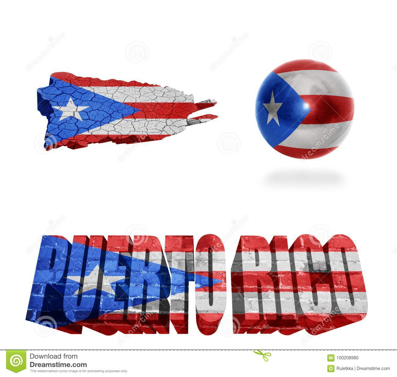 Puerto rico symbols stock illustration illustration of central puerto rico symbols biocorpaavc Choice Image