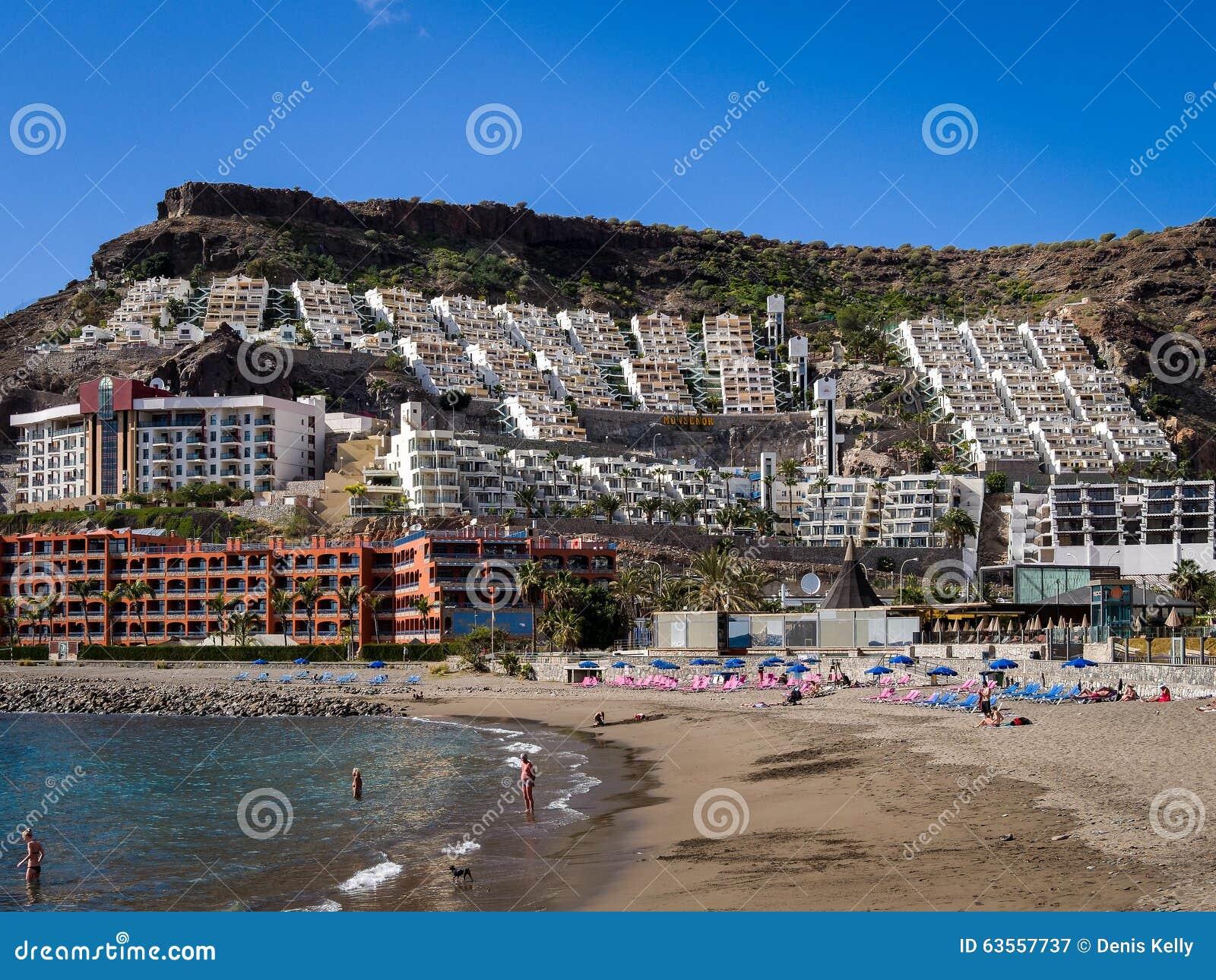 puerto rico holiday resort gran canaria spanien redaktionell arkivbild bild 63557737. Black Bedroom Furniture Sets. Home Design Ideas