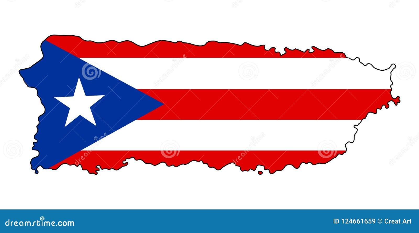 Puerto Rico Kaart van de vectorillustratie van Puerto Rico