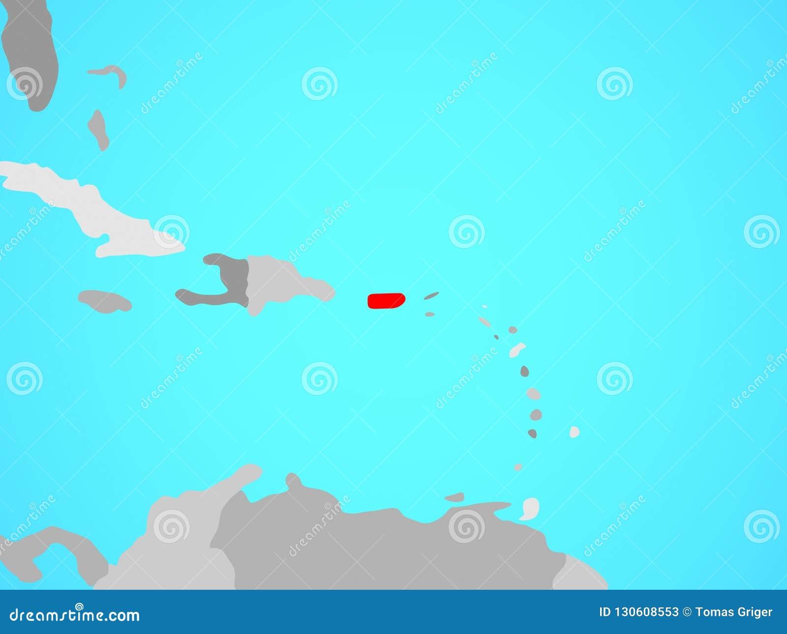 Puerto Rico On Map Stock Illustration Illustration Of Political