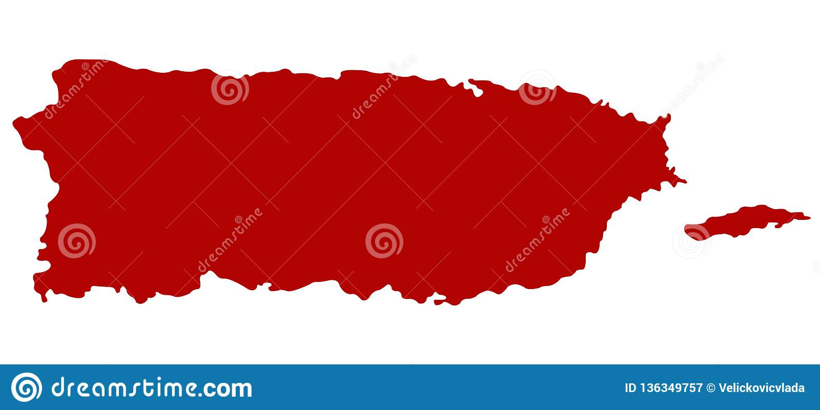 United States Map With Puerto Rico.Puerto Rico Map Commonwealth Of Puerto Rico Stock Vector