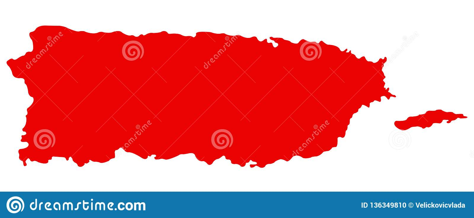 Puerto Rico Map - Commonwealth Of Puerto Rico Stock Vector ...
