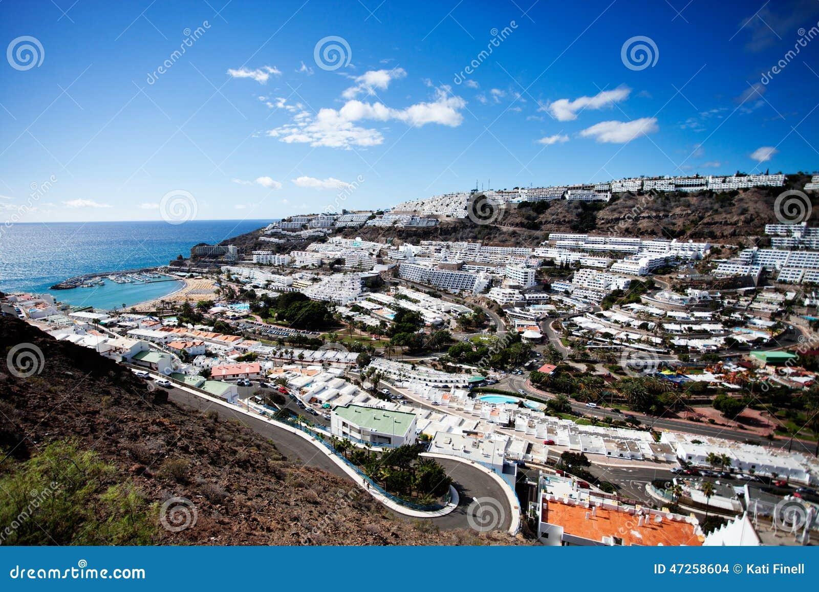 puerto rico spanien arkivfoto bild av kanarief gel kust 47258604. Black Bedroom Furniture Sets. Home Design Ideas