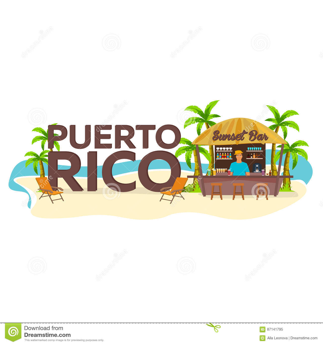 Puerto Rico. Travel. Palm, Drink, Summer, Lounge Chair, Tropical ...