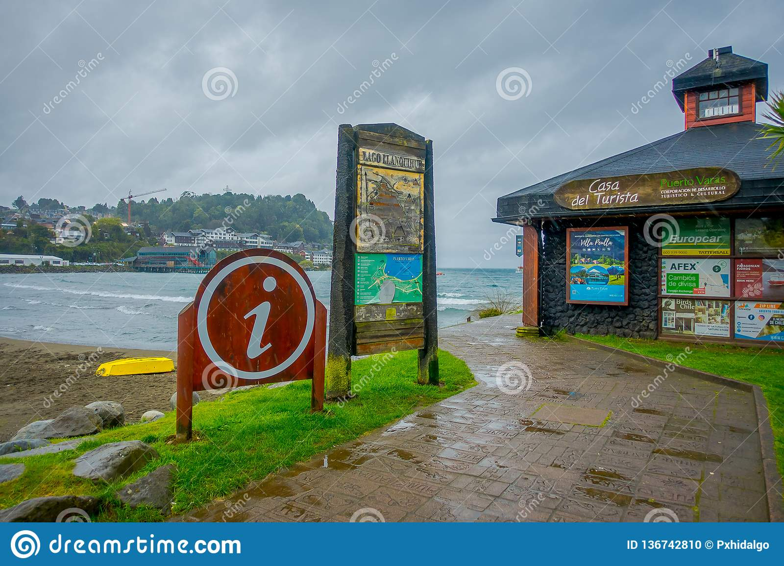 Puerto Varas Chile September 23 2018 Outdoor View Of Wooden