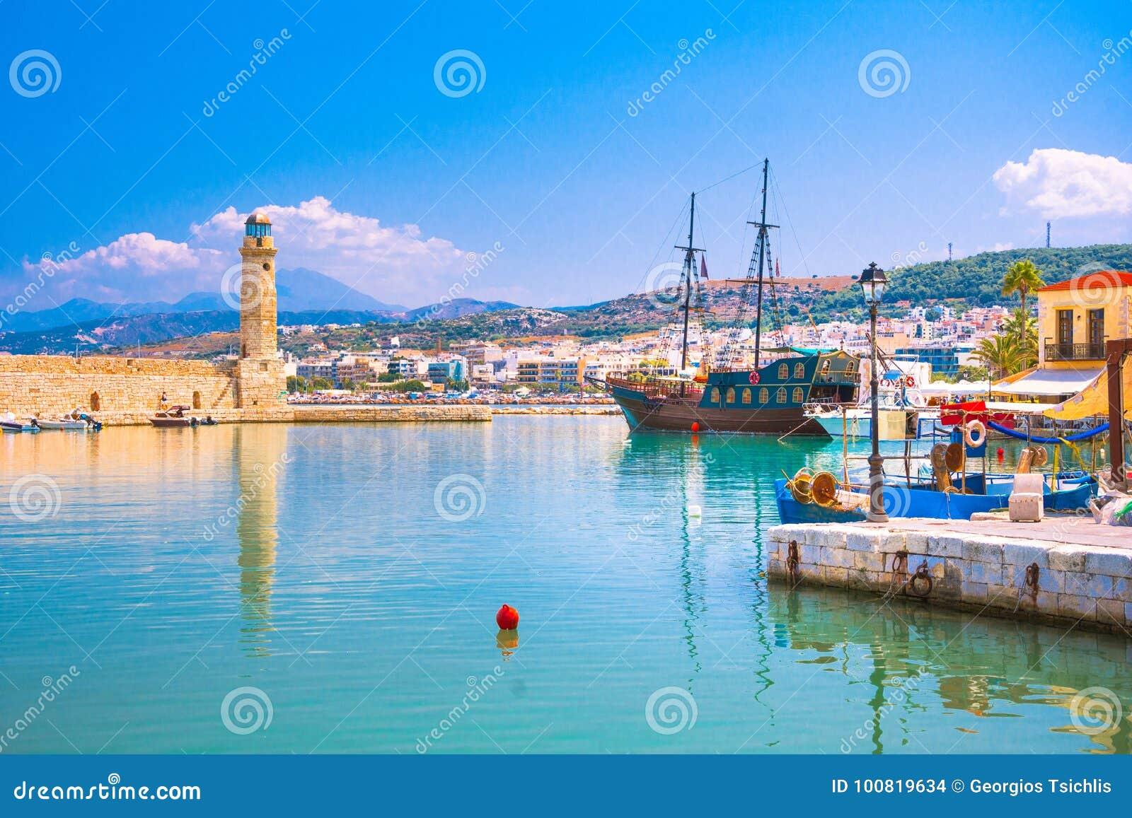Puerto veneciano viejo de Rethimno, Creta