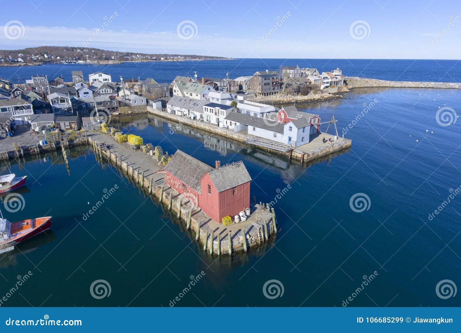 Puerto y adorno número 1, mA, los E.E.U.U. de Rockport
