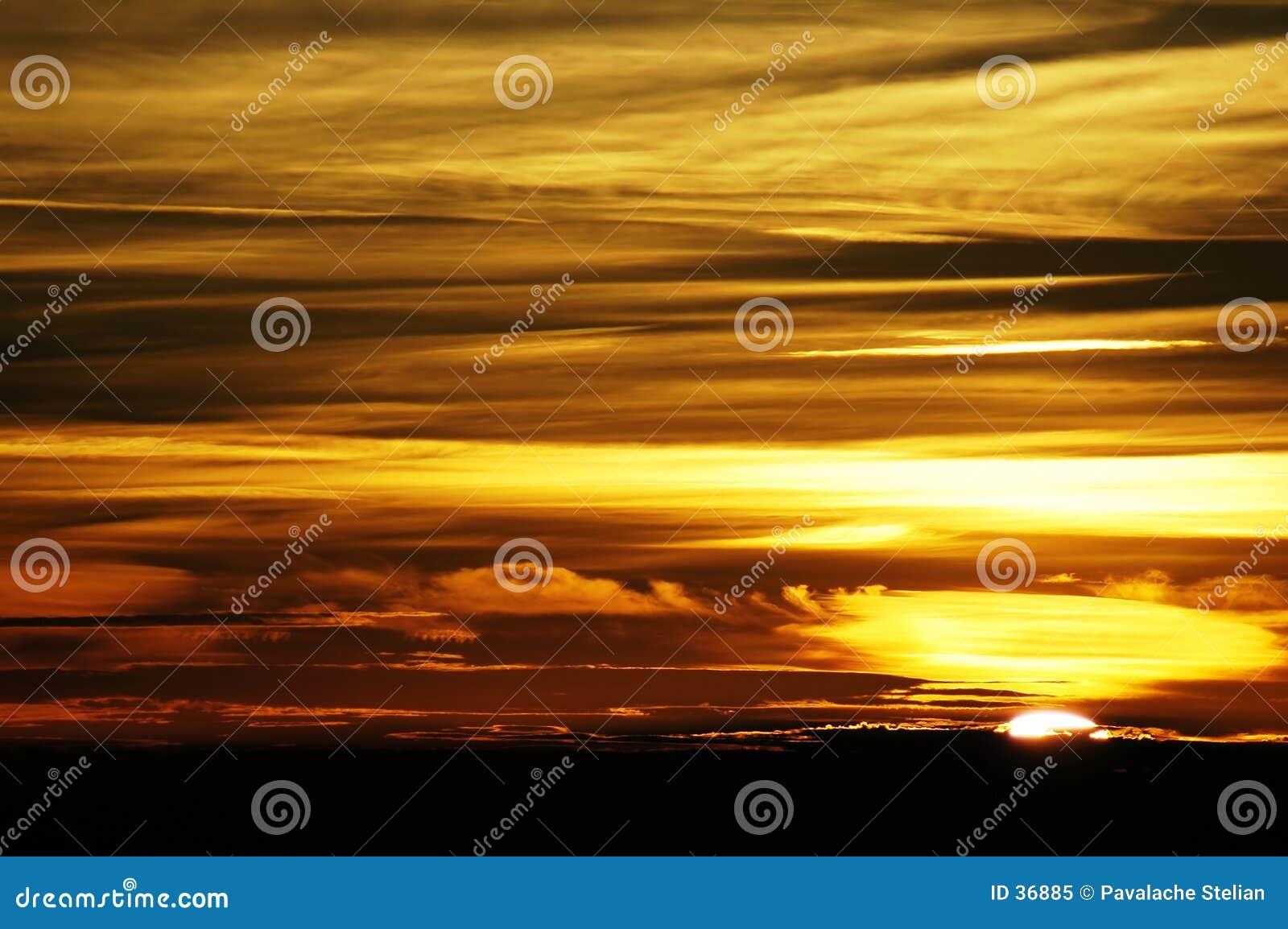 Download Puesta del sol imagen de archivo. Imagen de tarde, ocaso - 36885