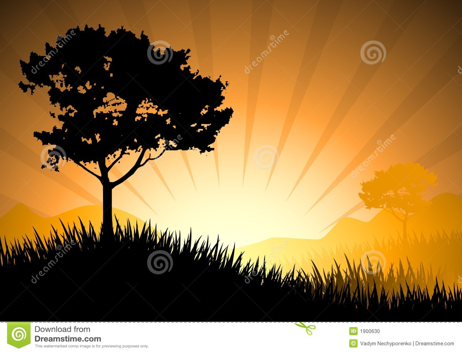 Puesta del sol asombrosa