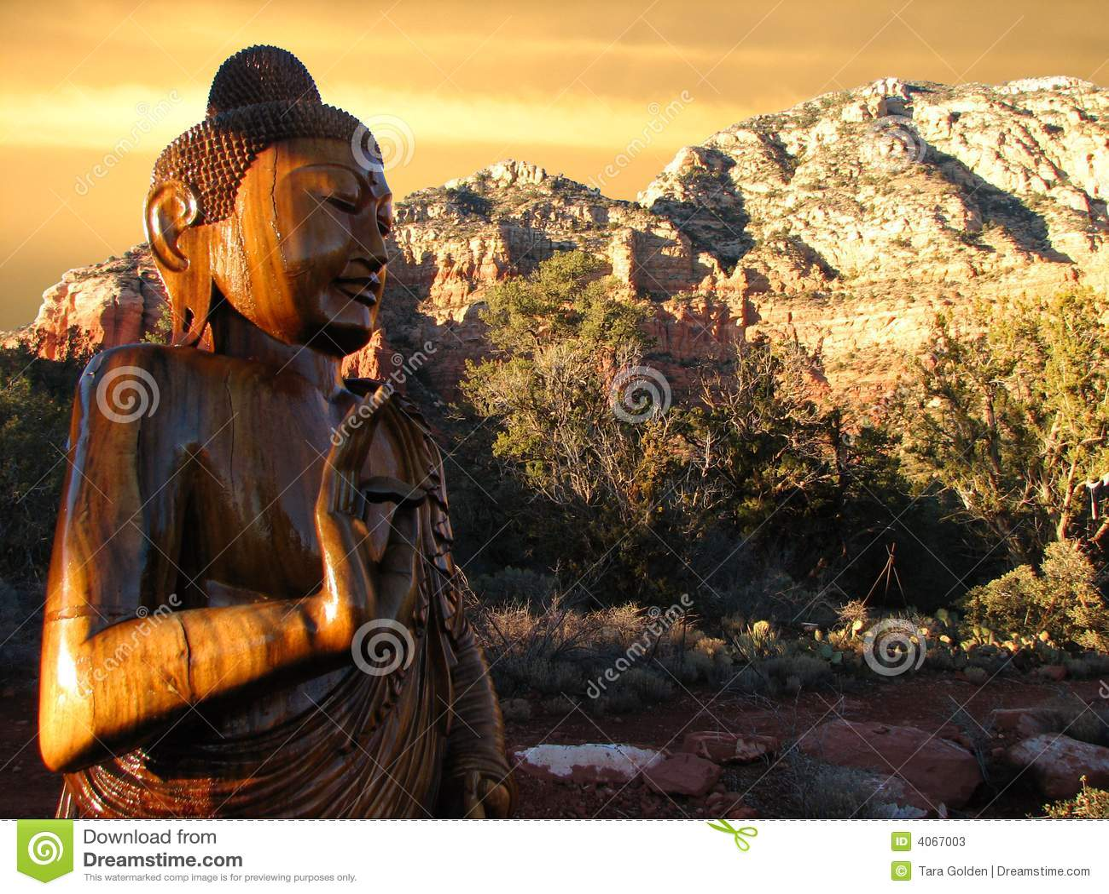 Puesta del sol de Buddha Sedona