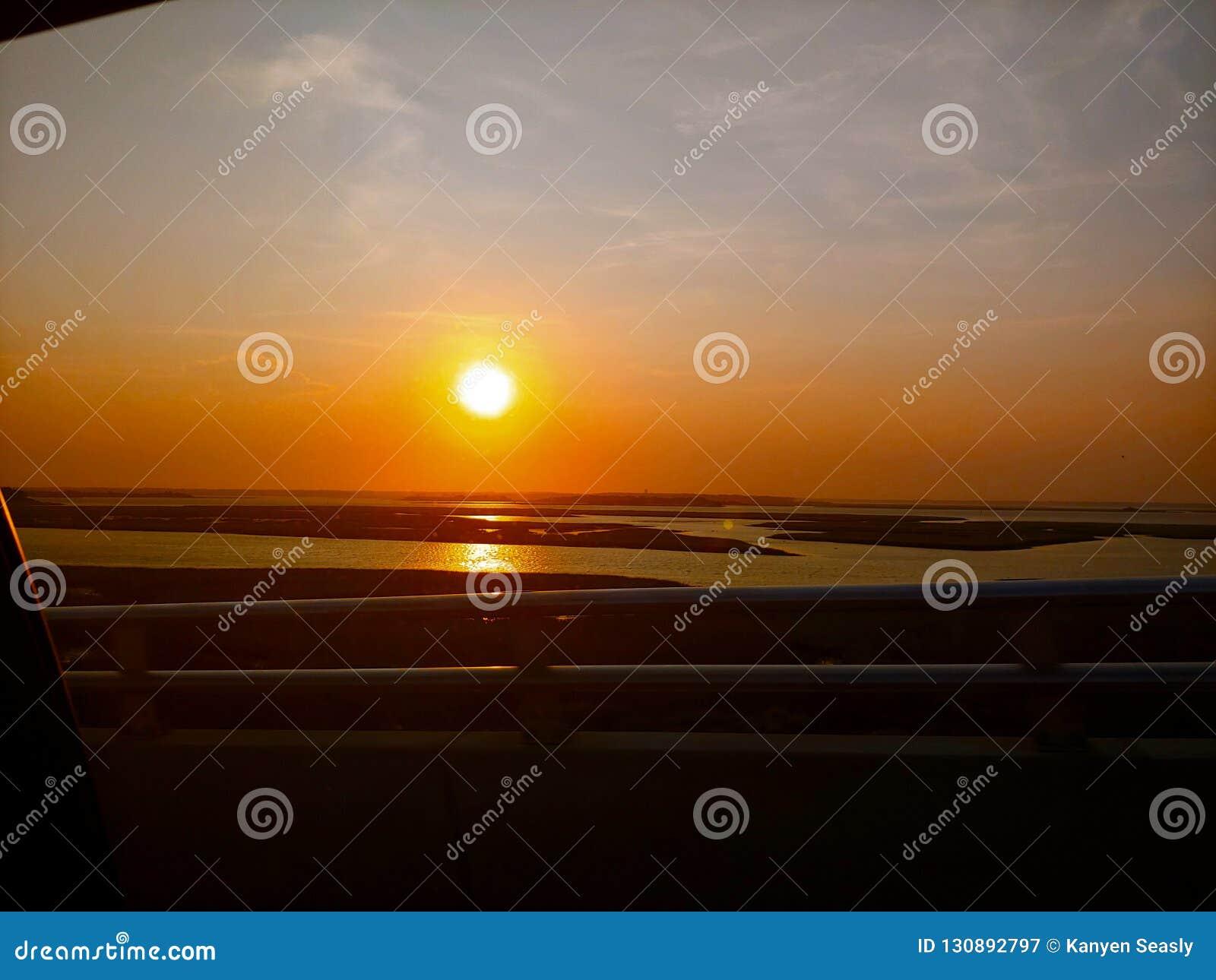 Puesta del sol de Emerald Isle