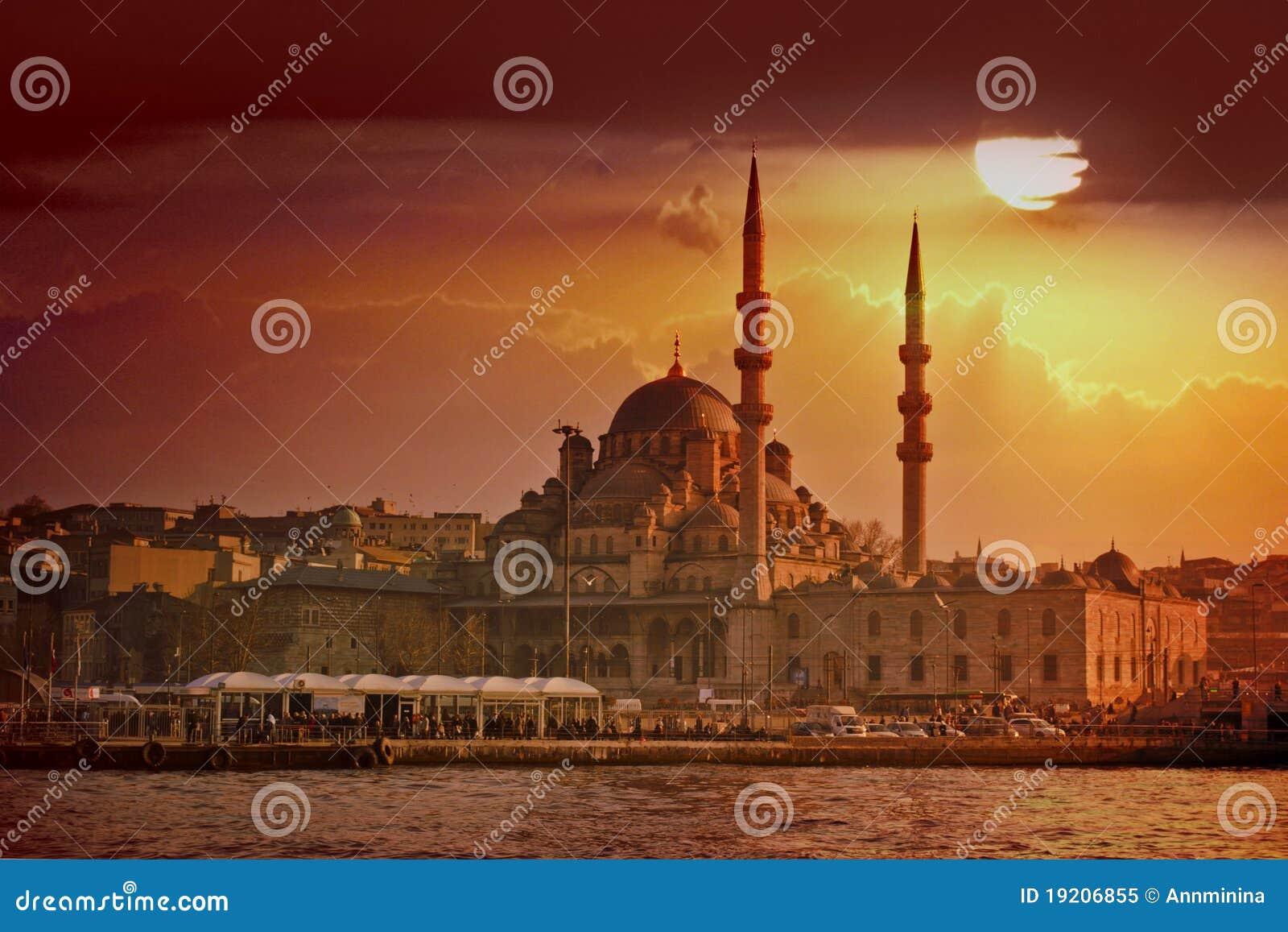 Puesta del sol de Estambul
