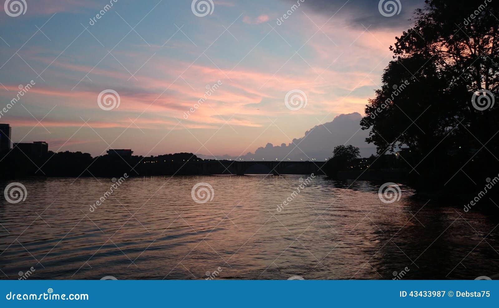 Puesta del sol de Potomac