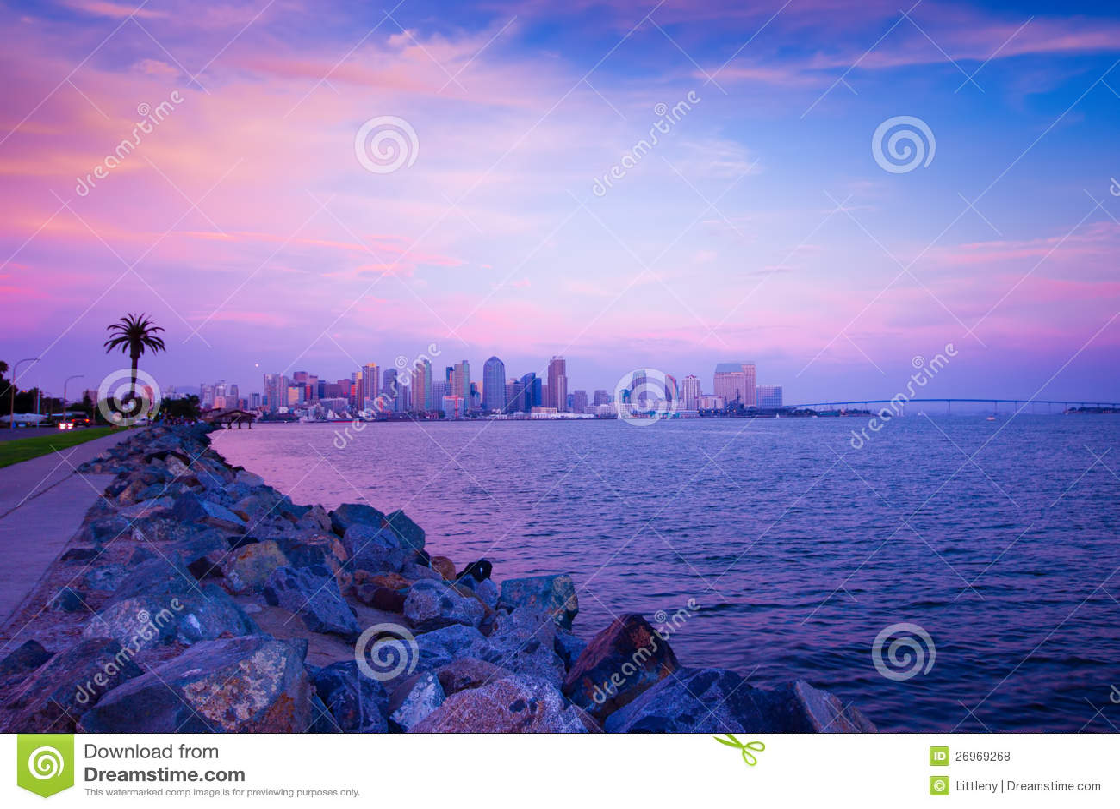 Puesta del sol de San Diego