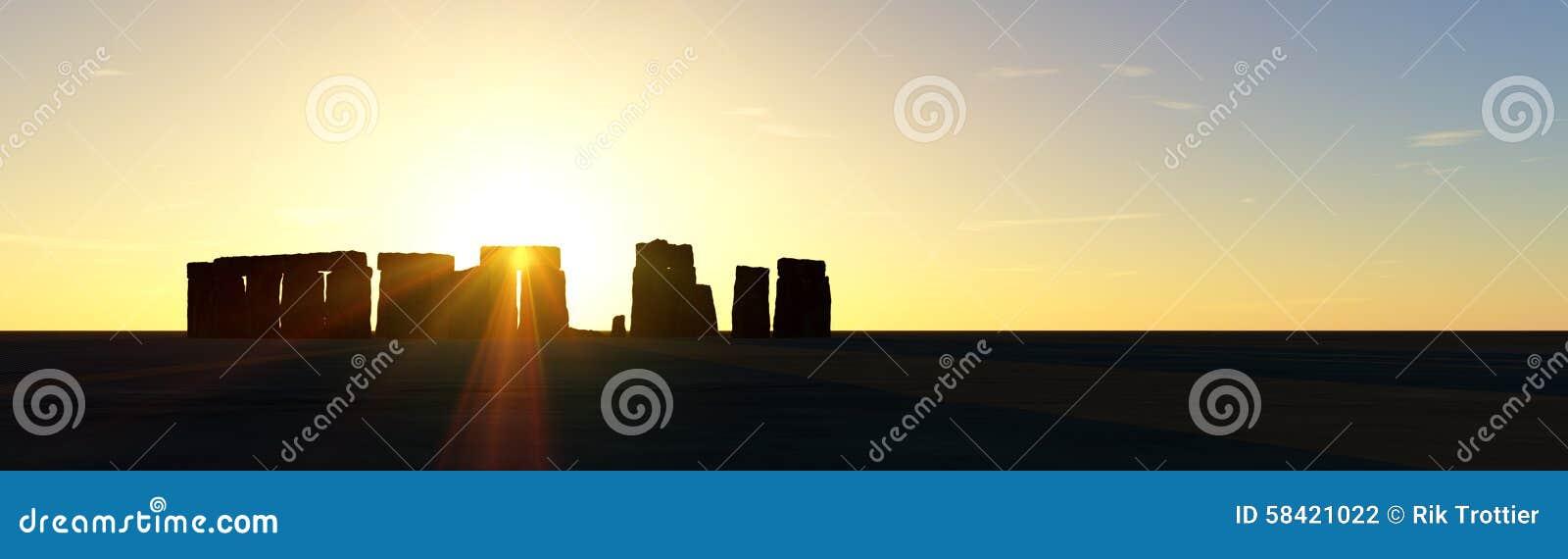 Puesta del sol de Stonehenge